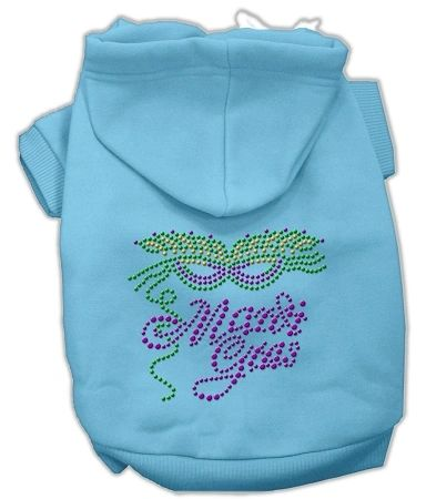 Dog Hoodies: Rhinestud MARDI GRAS Design Dog Hoodie by Mirage Pet Products USA
