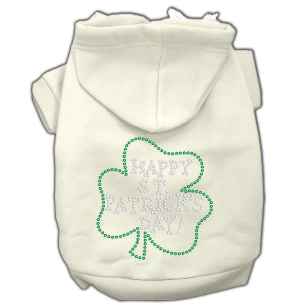 Dog Hoodies: Cute Rhinestone HAPPY ST. PATRICK'S DAY Dog Hoodie by Mirage Pet Products USA