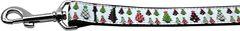 Nylon Dog Leashes: DESIGNER CHRISTMAS TREES Nylon Dog Leash Mirage Pet Products USA