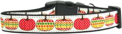 Holiday Nylon Dog Collars: Nylon Ribbon Collar PRETTY PUMPKINS - Matching Leash Sold Separately