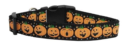 Holiday Nylon Dog Collars: Nylon Ribbon Collar PUMPKINS - Matching Leash Sold Separately