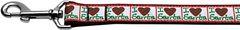 Nylon Dog Leashes: I (HEART) SANTA Nylon Dog Leash Mirage Pet Products USA