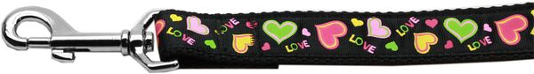Nylon Dog Leashes: NEON LOVE Nylon Dog Leash Mirage Pet Products USA