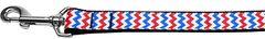 Nylon Dog Leashes: PATRIOTIC CHEVRONS Nylon Dog Leash Mirage Pet Products USA