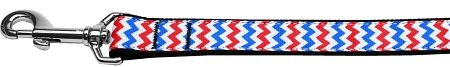 Nylon Dog Leashes: PATRIOTIC CHEVRONS Nylon Dog Leash Mirage Pet Products USA