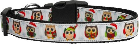 Dog Collars: Nylon Ribbon Collar SNOWY OWLS by MiragePetProducts - Matching Leash Sold Separately