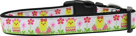 Dog Collars: Nylon Ribbon Collar SPRING CHICKEN by MiragePetProducts - Matching Leash Sold Separately