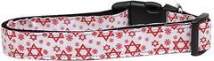 Dog Collars: Nylon Ribbon Collar by Mirage Pet Products USA - STAR OF DAVID RED
