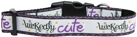 Dog Collars: Nylon Ribbon Collar WICKEDLY CUTE - Matching Leash Sold Separately