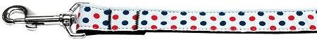 Dog Leashes: PATRIOTIC POLKA DOTS Nylon Dog Leash Mirage Pet Products USA