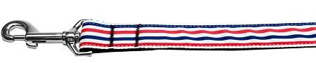 Nylon Dog Leashes: PATRIOTIC STRIPES Nylon Dog Leash Mirage Pet Products USA