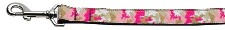 Nylon Dog Leashes: Pink Camo Nylon Dog Leash Mirage Pet Products USA