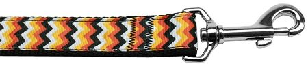 Nylon Dog Leashes: PUMPKIN CHEVRONS Dog Leash Mirage Pet Products USA
