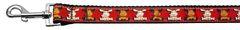 Holiday Nylon Dog Leashes: Reindeer Nylon Dog Leash Mirage Pet Products USA