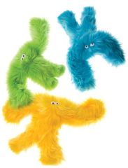 "TOY: Plush Dog Toys: Colorful 17"" Furry Salsa Dog Toy with Squeaker"