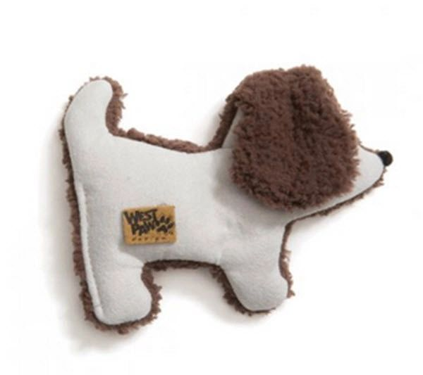 "Puppy Dog Toys: Small 5"" Dog Toy Big Sky Puppy with Fun Squeaker by West Paw"
