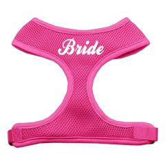 """Dog Harnesses: Screen Print - """"BRIDE"""" Soft Mesh Dog Harness in Several Sizes & Colors USA"""