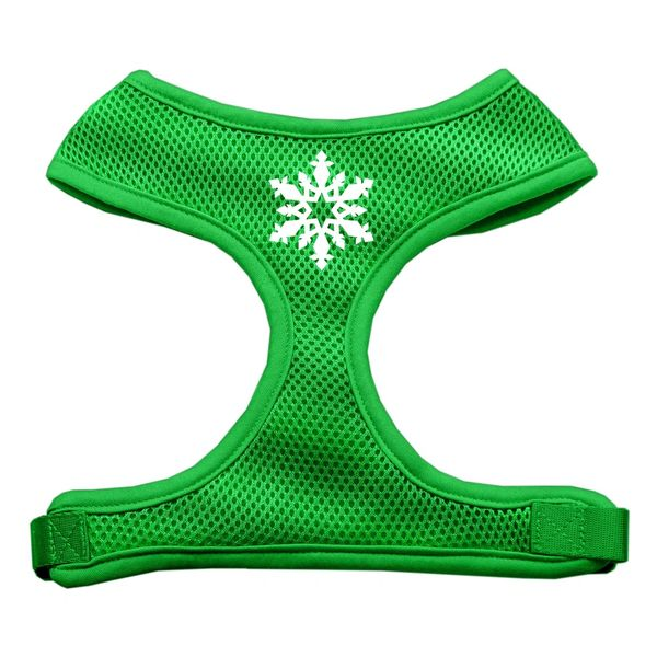 Dog Harnesses: Screen Print - SNOWFLAKE Soft Mesh Dog Harness in Several Sizes & Colors USA