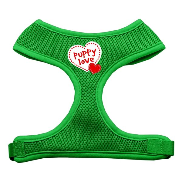 "Dog Harnesses: Screen Print - ""PUPPY LOVE"" Soft Mesh Dog Harness in Several Sizes & Colors USA"
