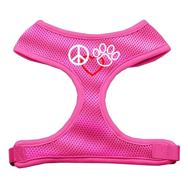 Dog Harnesses: Screen Print - PEACE, LOVE, PAW Soft Mesh Dog Harness in Several Sizes & Colors USA