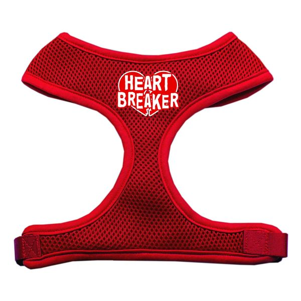 "Dog Harnesses: Screen Print - ""HEART BREAKER"" Soft Mesh Dog Harness in Several Sizes & Colors USA"