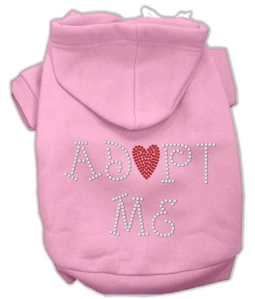 Dog Hoodies: Cute ADOPT ME Rhinestone Dog Hoodie by Mirage Pet Products USA