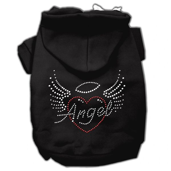 Dog Hoodies: Cute Rhinestone Design ANGEL HEART Dog Hoodie by Mirage Pet Products USA