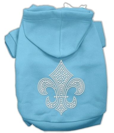 Dog Hoodies: Cute Rhinestone FLEUR DE LIS Design Dog Hoodie by Mirage Pet Products USA