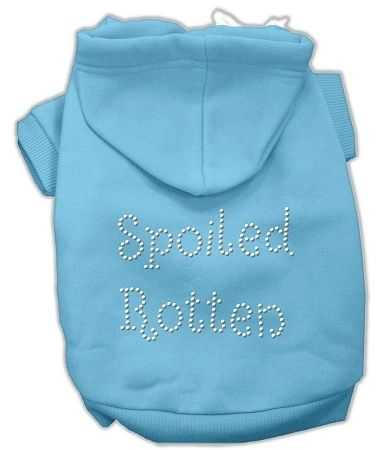 Dog Hoodies: SPOILED ROTTEN Rhinestone Dog Hoodie by Mirage Pet Products USA