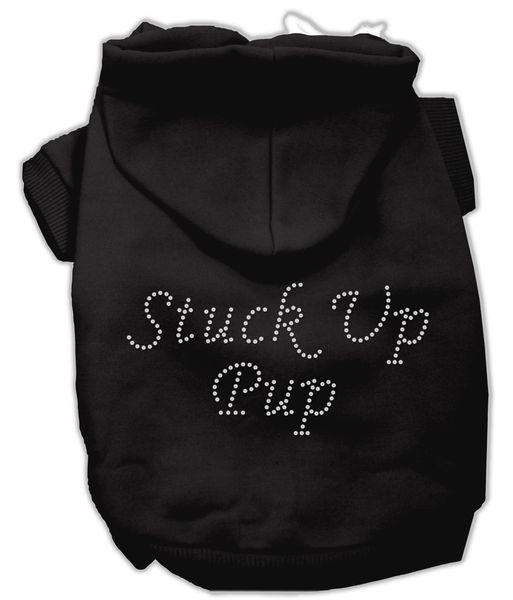 Dog Hoodies: STUCK UP PUP Rhinestone Dog Hoodie by Mirage Pet Products USA
