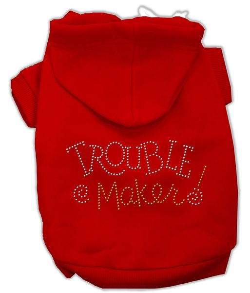 Dog Hoodies: TROUBLE MAKER! Rhinestone Dog Hoodie by Mirage Pet Products USA