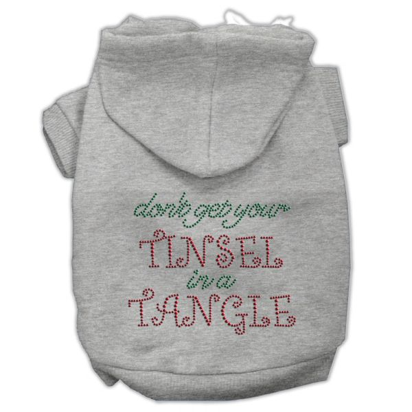 Dog Hoodies: TINSEL IN A TANGLE Rhinestone Dog Hoodie by Mirage Pet Products USA
