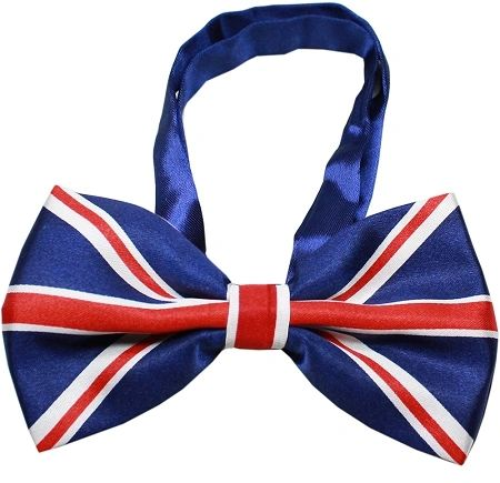 "Dog Bow Ties: Big Dog Bow Tie British Flag Style Neck 11"" - 19"" by Mirage Pet Products"