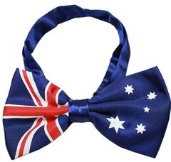 "Dog Bow Ties: Big Dog Bow Tie Australian Flag Style Neck 11"" - 19"" by Mirage Pet Products"