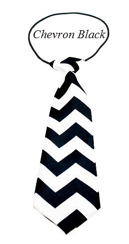 "Big Dog Long Neck 11"" Ties in Various CHEVRON Colors & Patterns by MiragePetProducts"