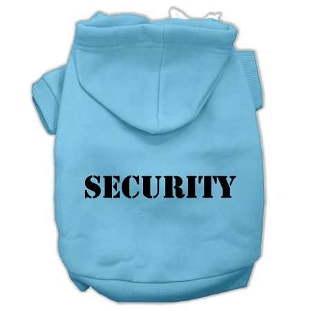Dog Hoodies: Funny Hoodie SECURITY Screened Print Dog Hoodie Various Colors & Sizes by Mirage