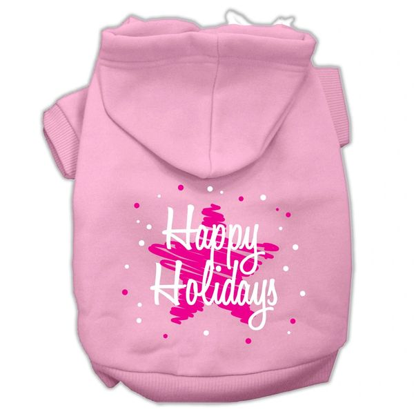 Dog Hoodies: SCRIBBLED HAPPY HOLIDAYS Screened Print Dog Hoodie in Various Colors & Sizes by Mirage