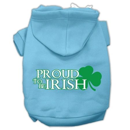 Dog Hoodies: PROUD TO BE IRISH Screen Print Dog Hoodie Various Colors & Sizes by Mirage