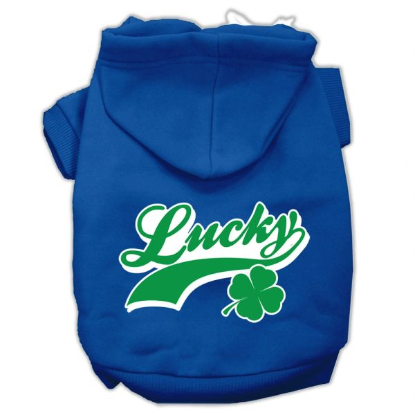 Dog Hoodies: LUCKY SWOOSH Screen Print Dog Hoodie Iin Various Colors & Sizes by Mirage