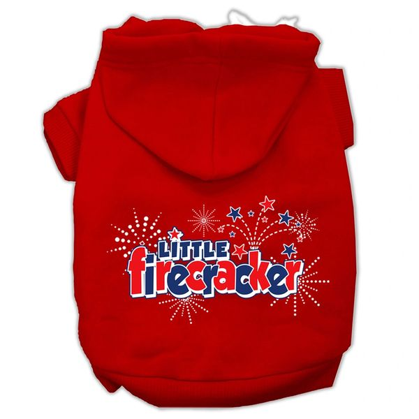 Dog Hoodies: LITTLE FIRESCRACKER Screen Print Dog Hoodie in Various Colors & Sizes by Mirage