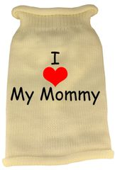 Dog Sweaters: Screen Print I LOVE MY MOMMY Knit Dog Sweater in Different Colors & Sizes - Mirage