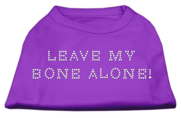 Dog Shirts: LEAVE MY BONE ALONE! Rhinestone Dog Shirt in Various Colors & Sizes by Mirage