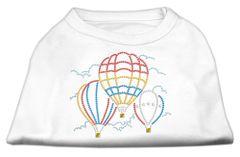 Dog Shirts: HOT AIR BALLOON Rhinestone Dog Shirt in Various Colors & Sizes by Mirage