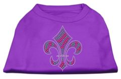 Dog Shirts: HOLIDAY FLEUR DE LIS Rhinestone Dog Shirt in Various Colors & Sizes by Mirage