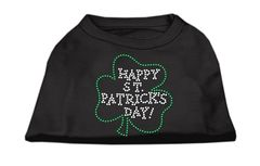 Dog Shirts: HAPPY ST. PATRICK'S DAY Rhinestone Dog Shirt in Various Colors & Sizes by Mirage