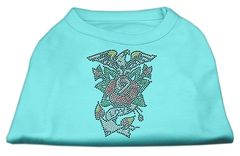 Dog Shirts: EAGLE ROSE NAILHEAD Rhinestone Dog Shirt in Various Colors & Sizes by Mirage