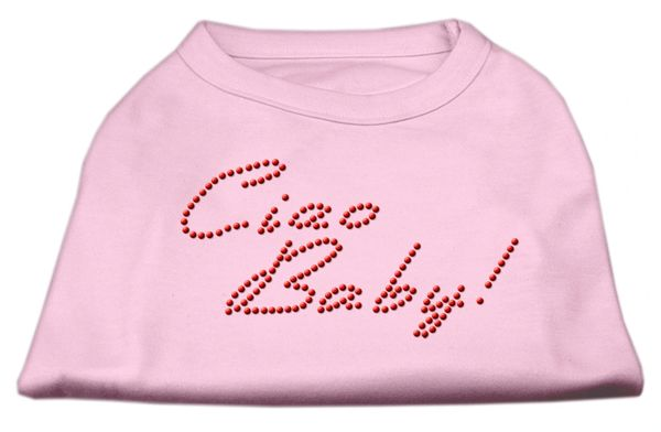 Dog Shirts: CIAO BABY Rhinestone Dog Shirt in Various Colors & Sizes by Mirage