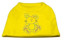 Dog Shirts: BUNNY Rhinestone Dog Shirt in Various Colors & Sizes by Mirage