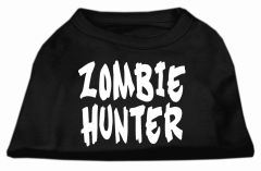 Dog Shirts: ZOMBIE HUNTER Cute Dog Gift for your Dog Screen Print Dog Shirt in Various Colors/Sizes