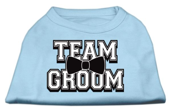 Dog Shirts: TEAM GROOM Screen Print Dog Shirt in Various Colors & Sizes by Mirage